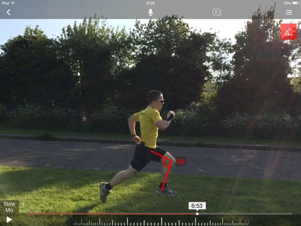 Video analysis of running technique