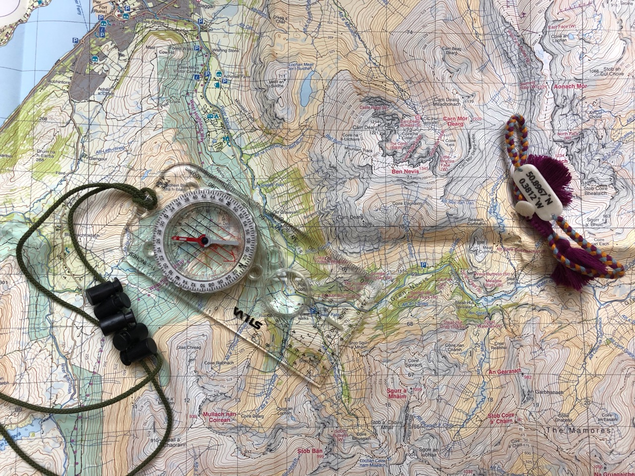 West Highland Way map and Compass